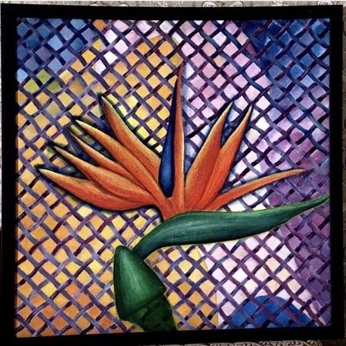 oil painting.wall art.home decor.wall hanging.interior decorations., 24 x 24 inch, sunita mathur,24x24inch,canvas,paintings,flower paintings,paintings for dining room,oil color,GAL01727229087