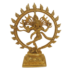 antique finish dancing natarajar brass statue , 2 x 7 inch, vgo cart,2x7inch,canvas board,brass statue,brass,GAL01132729105