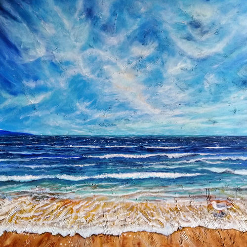 waves2, 28 x 22 inch, shubhra jain,28x22inch,canvas,paintings,landscape paintings,nature paintings | scenery paintings,art deco paintings,impressionist paintings,realism paintings,contemporary paintings,realistic paintings,water fountain paintings,paintings for living room,paintings for office,paintings for bathroom,paintings for hotel,paintings for school,paintings for hospital,acrylic color,GAL01778229116