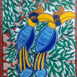 the hornbills, 12 x 16 inch, akanksha sinha,12x16inch,canvas,paintings,wildlife paintings,nature paintings | scenery paintings,madhubani paintings | madhubani art,paintings for dining room,paintings for living room,paintings for office,paintings for kids room,paintings for hotel,paintings for school,paintings for hospital,paintings for dining room,paintings for living room,paintings for office,paintings for kids room,paintings for hotel,paintings for school,paintings for hospital,acrylic color,pen color,GAL01104129134