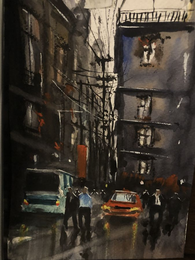 narrow lane, 6 x 8 inch, t v ramachandran ,6x8inch,renaissance watercolor paper,paintings,cityscape paintings,watercolor,GAL01799329154