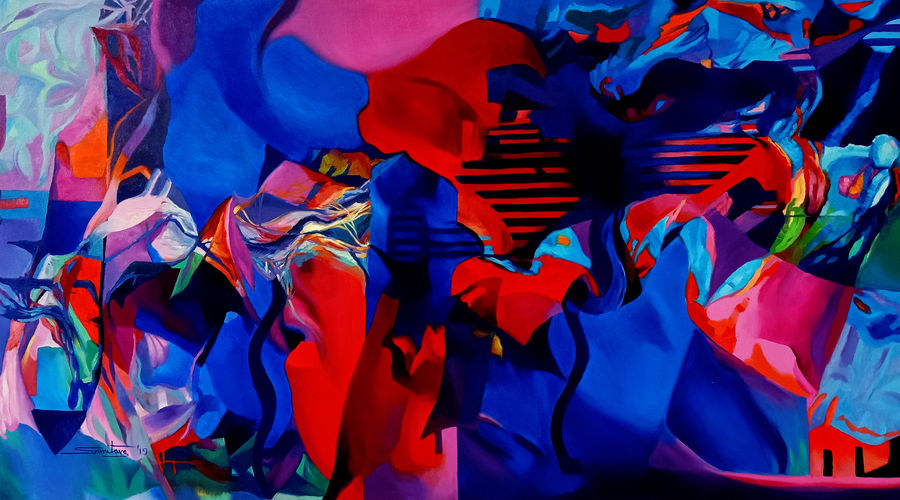 colour of the universe xiv, 60 x 31 inch, sumitava maity,60x31inch,canvas,paintings,abstract paintings,modern art paintings,conceptual paintings,abstract expressionism paintings,expressionism paintings,impressionist paintings,realism paintings,surrealism paintings,contemporary paintings,paintings for dining room,paintings for living room,paintings for bedroom,paintings for office,paintings for kids room,paintings for hotel,paintings for kitchen,paintings for school,paintings for hospital,oil color,GAL01556829164