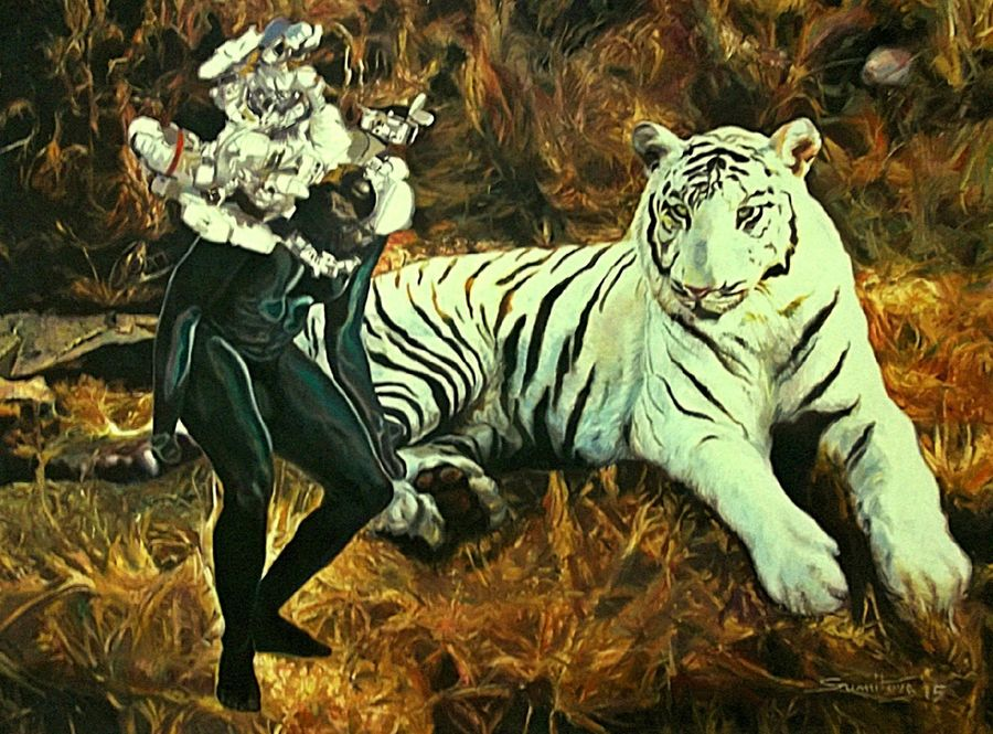 i am changing ii, 48 x 36 inch, sumitava maity,48x36inch,canvas,paintings,wildlife paintings,modern art paintings,conceptual paintings,portrait paintings,nature paintings | scenery paintings,expressionism paintings,impressionist paintings,photorealism paintings,photorealism,portraiture,realism paintings,surrealism paintings,animal paintings,contemporary paintings,paintings for dining room,paintings for living room,paintings for bedroom,paintings for office,paintings for hotel,paintings for hospital,oil color,GAL01556829182