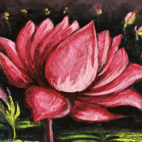 lotus canvas, 11 x 11 inch, savita  gupta,11x11inch,canvas,flower paintings,paintings for dining room,paintings for living room,paintings for bedroom,paintings for office,paintings for kids room,paintings for hotel,paintings for kitchen,paintings for school,paintings for hospital,paintings for dining room,paintings for living room,paintings for bedroom,paintings for office,paintings for kids room,paintings for hotel,paintings for kitchen,paintings for school,paintings for hospital,acrylic color,oil color,pastel color,poster color,watercolor,GAL01608229192