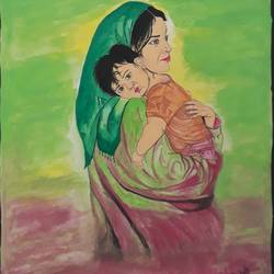 mother and son world beautiful relesion , 12 x 15 inch, shankar naik,12x15inch,paper,love paintings,paintings for dining room,paintings for living room,paintings for bedroom,paintings for office,paintings for kids room,paintings for hotel,paintings for dining room,paintings for living room,paintings for bedroom,paintings for office,paintings for kids room,paintings for hotel,oil color,pastel color,poster color,paper,GAL0596629216