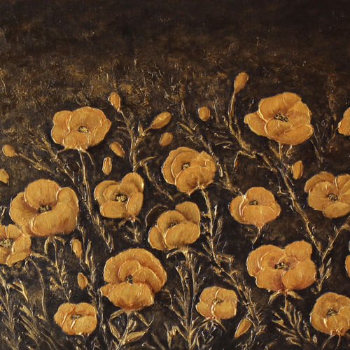 golden flower field, 24 x 18 inch, goutami mishra,24x18inch,canvas board,paintings,flower paintings,landscape paintings,modern art paintings,still life paintings,nature paintings | scenery paintings,art deco paintings,impressionist paintings,contemporary paintings,paintings for dining room,paintings for living room,paintings for bedroom,paintings for hotel,acrylic color,GAL046529236