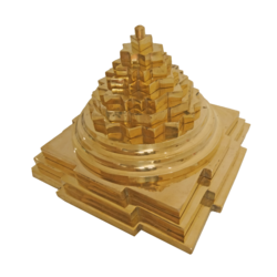 pure brass pyramid showpiece (large), 5 x 5 inch, vgo cart,5x5inch,hardboard,handicrafts,brass statue,brass,GAL01132729267
