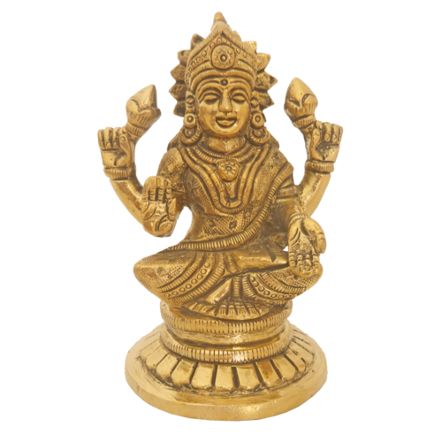 brass goddess devi with lotus bud statue, 2 x 4 inch, vgo cart,2x4inch,canvas board,handicrafts,brass statue,brass,GAL01132729284