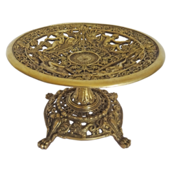 brass decorative fruit stand showpiece, 9 x 6 inch, vgo cart,9x6inch,handmade paper,brass statue,brass,GAL01132729324