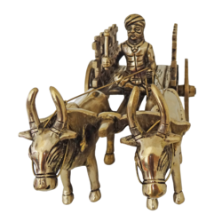 decorative brass open jalli bullock cart showpiece-small, 10 x 5 inch, vgo cart,10x5inch,handmade paper,handicrafts,brass statue,brass,GAL01132729328