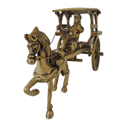 brass man riding horse cart showpiece, 8 x 4 inch, vgo cart,8x4inch,handmade paper,handicrafts,brass statue,brass,GAL01132729331