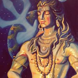 lord  biswanath, 25 x 35 inch, shiuli majumder,25x35inch,canvas,paintings,lord shiva paintings,oil color,GAL01355229338