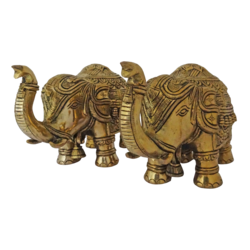 decorative brass elephant statue showpiece, 6 x 4 inch, vgo cart,6x4inch,handmade paper,handicrafts,brass statue,brass,GAL01132729375