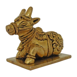 brass god nandi statue, 4 x 3 inch, vgo cart,4x3inch,canvas board,handicrafts,brass statue,brass,GAL01132729380