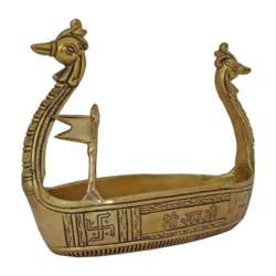 brass golden swan boat showpiece, 4 x 7 inch, vgo cart,4x7inch,thick paper,handicrafts,brass statue,brass,GAL01132729387