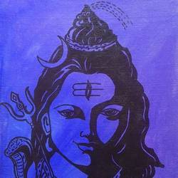 lord shiva, 12 x 16 inch, geetha murugesan,12x16inch,canvas board,paintings,religious paintings,acrylic color,GAL01799229390