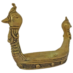 brass golden swan boat showpiece-small, 3 x 4 inch, vgo cart,3x4inch,handmade paper,handicrafts,brass statue,brass,GAL01132729392