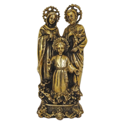 unique brass jesus family catholic christian statue, 3 x 8 inch, vgo cart,3x8inch,handmade paper,handicrafts,religious statues,brass,GAL01132729393