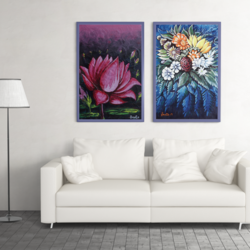 floral paintings, 20 x 30 inch, savita  gupta,20x30inch,canvas,paintings,flower paintings,paintings for dining room,paintings for living room,paintings for bedroom,paintings for office,paintings for bathroom,paintings for kids room,paintings for hotel,paintings for kitchen,paintings for school,paintings for hospital,acrylic color,GAL01608229424