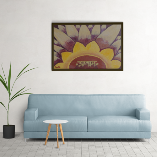 floral art, 10 x 11 inch, savita  gupta,10x11inch,canvas,paintings,religious paintings,paintings for dining room,paintings for living room,paintings for hospital,acrylic color,GAL01608229427