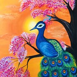 soothing , 25 x 36 inch, yamini prasad,25x36inch,canvas,paintings,wildlife paintings,flower paintings,folk art paintings,landscape paintings,conceptual paintings,paintings for dining room,paintings for living room,paintings for bedroom,paintings for office,paintings for bathroom,paintings for kids room,paintings for hotel,paintings for kitchen,paintings for school,paintings for hospital,acrylic color,GAL01583629466