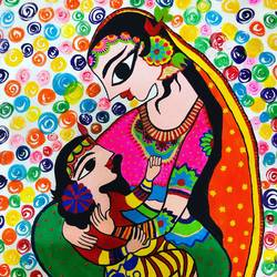 mothers love, 22 x 28 inch, yamini prasad,22x28inch,canvas,paintings,folk art paintings,conceptual paintings,religious paintings,still life paintings,portrait paintings,madhubani paintings | madhubani art,paintings for dining room,paintings for living room,paintings for bedroom,paintings for office,paintings for kids room,paintings for hotel,paintings for kitchen,paintings for school,paintings for hospital,paintings for dining room,paintings for living room,paintings for bedroom,paintings for office,paintings for kids room,paintings for hotel,paintings for kitchen,paintings for school,paintings for hospital,acrylic color,GAL01583629468