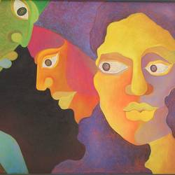 contemplation, 40 x 33 inch, chaitali chatterjee,40x33inch,canvas,paintings,figurative paintings,contemporary paintings,paintings for dining room,paintings for living room,paintings for office,paintings for hotel,paintings for school,paintings for hospital,oil color,pastel color,GAL01566229469