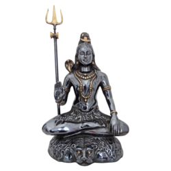 religious brass black coated lord shiva statue , 9 x 27 inch, vgo cart,9x27inch,handmade paper,handicrafts,religious statues,brass,GAL01132729477