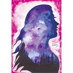 fearless woman, 9 x 12 inch, suvarna nirala,9x12inch,thick paper,paintings,abstract paintings,modern art paintings,illustration paintings,paintings for bedroom,paintings for office,paintings for kids room,watercolor,GAL01148129486