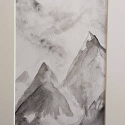 summit, 5 x 6 inch, nandita basu,5x6inch,fabriano sheet,paintings,landscape paintings,nature paintings | scenery paintings,paintings for dining room,paintings for living room,paintings for bedroom,paintings for office,paintings for hotel,watercolor,paper,GAL01781129490