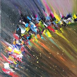 shooting star, 12 x 12 inch, raj gaurav,12x12inch,canvas,paintings,abstract paintings,acrylic color,GAL01793829496