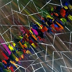diagonal lines, 12 x 12 inch, raj gaurav,12x12inch,canvas,paintings,abstract paintings,acrylic color,GAL01793829498