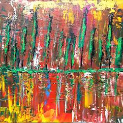 sunset, 12 x 10 inch, raj gaurav,12x10inch,canvas,paintings,abstract paintings,acrylic color,GAL01793829499