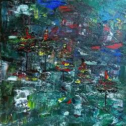 dark forest, 12 x 12 inch, raj gaurav,12x12inch,canvas,paintings,abstract paintings,acrylic color,GAL01793829501