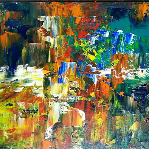 colorful scenic , 12 x 10 inch, raj gaurav,12x10inch,canvas,paintings,abstract paintings,acrylic color,GAL01793829503