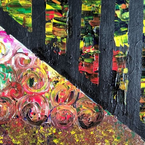 pillars with shades, 12 x 10 inch, raj gaurav,12x10inch,canvas,paintings,abstract paintings,acrylic color,GAL01793829504