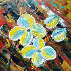 wild flower, 10 x 8 inch, raj gaurav,10x8inch,canvas,paintings,abstract paintings,acrylic color,GAL01793829507
