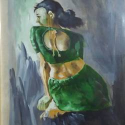 hope, 12 x 12 inch, nabankur roy,realistic paintings,paintings for bedroom,thick paper,oil,12x12inch,GAL011502951