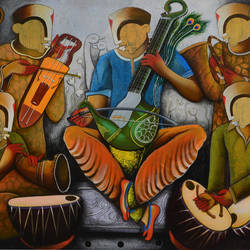 musical band 6, 60 x 48 inch, anupam  pal,60x48inch,canvas,paintings,abstract paintings,buddha paintings,wildlife paintings,figurative paintings,flower paintings,folk art paintings,foil paintings,cityscape paintings,landscape paintings,modern art paintings,multi piece paintings,conceptual paintings,religious paintings,still life paintings,portrait paintings,nature paintings | scenery paintings,abstract expressionism paintings,cubism paintings,expressionism paintings,illustration paintings,impressionist paintings,minimalist paintings,photorealism paintings,photorealism,pop art paintings,portraiture,realism paintings,street art,surrealism paintings,ganesha paintings | lord ganesh paintings,animal paintings,radha krishna paintings,contemporary paintings,realistic paintings,love paintings,horse paintings,mother teresa paintings,baby paintings,kids paintings,islamic calligraphy paintings,madhubani paintings | madhubani art,warli paintings,lord shiva paintings,kalighat painting,phad painting,kalamkari painting,miniature painting.,gond painting.,kerala murals painting,serigraph paintings,paintings for dining room,paintings for living room,paintings for bedroom,paintings for office,paintings for bathroom,paintings for kids room,paintings for hotel,paintings for kitchen,paintings for school,paintings for hospital,acrylic color,GAL08229512