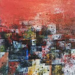the village, 12 x 12 inch, m. singh,12x12inch,canvas,paintings,abstract paintings,cityscape paintings,landscape paintings,modern art paintings,abstract expressionism paintings,contemporary paintings,paintings for dining room,paintings for living room,paintings for bedroom,paintings for office,paintings for kids room,paintings for hotel,paintings for school,paintings for hospital,acrylic color,GAL0537729517