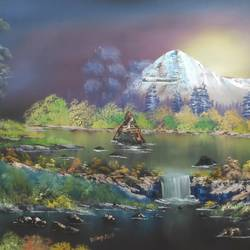 shivam, 28 x 18 inch, dr dileep  k j,28x18inch,canvas board,paintings,landscape paintings,conceptual paintings,religious paintings,nature paintings | scenery paintings,lord shiva paintings,paintings for living room,paintings for bedroom,paintings for office,paintings for hotel,oil color,GAL01771029520