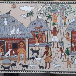 patachitra, 20 x 10 inch, biswarup maiti,20x10inch,canvas,paintings,folk art paintings,paintings for living room,paintings for bedroom,paintings for office,paintings for hotel,paintings for school,paintings for hospital,acrylic color,GAL01670629523