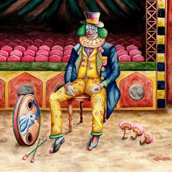 clown, 30 x 23 inch, samit kamar,30x23inch,handmade paper,paintings,figurative paintings,paintings for living room,watercolor,GAL0443429531
