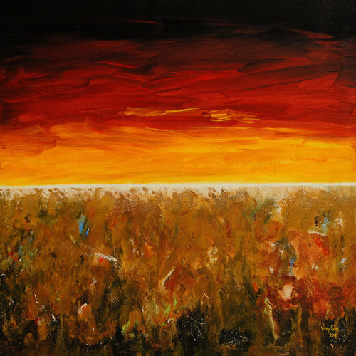hope at infinity, 36 x 24 inch, vinay sane,36x24inch,canvas,paintings,landscape paintings,nature paintings   scenery paintings,impressionist paintings,paintings for dining room,paintings for living room,paintings for bedroom,paintings for office,paintings for hotel,paintings for hospital,acrylic color,GAL01814929554