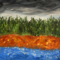 josh of a river, 30 x 24 inch, vinay sane,30x24inch,canvas,paintings,landscape paintings,nature paintings | scenery paintings,paintings for dining room,paintings for living room,paintings for bedroom,paintings for office,paintings for hotel,paintings for hospital,acrylic color,GAL01814929558