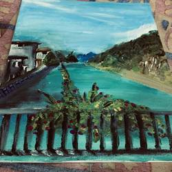 switzerland scenery, 12 x 16 inch, neelam pawar,12x16inch,canvas,paintings,landscape paintings,nature paintings | scenery paintings,acrylic color,GAL01571729568