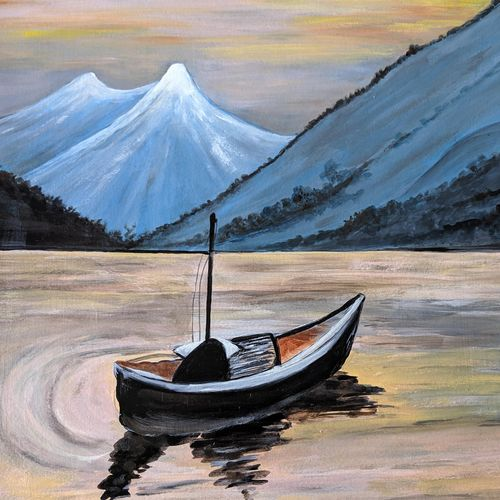 the beauty of nature, 24 x 20 inch, promila singh,24x20inch,thick paper,paintings,nature paintings | scenery paintings,paintings for living room,acrylic color,GAL0823229579