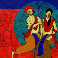 bewitch, 33 x 25 inch, chetan katigar,33x25inch,canvas,paintings,abstract paintings,figurative paintings,flower paintings,cityscape paintings,landscape paintings,modern art paintings,religious paintings,portrait paintings,nature paintings | scenery paintings,abstract expressionism paintings,art deco paintings,expressionism paintings,impressionist paintings,radha krishna paintings,contemporary paintings,paintings for dining room,paintings for living room,paintings for bedroom,paintings for office,paintings for bathroom,paintings for kids room,paintings for hotel,paintings for kitchen,acrylic color,GAL026629595