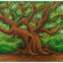 magnificent tree, 16 x 12 inch, rajmohan ramamoorthi,16x12inch,thick paper,paintings,landscape paintings,nature paintings | scenery paintings,paintings for living room,paintings for office,paintings for hotel,paintings for hospital,pastel color,GAL01816129603