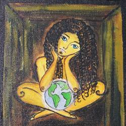 girl in box, 10 x 8 inch, nupur mishra,10x8inch,canvas board,paintings,figurative paintings,conceptual paintings,expressionism paintings,illustration paintings,surrealism paintings,paintings for dining room,paintings for living room,paintings for bedroom,paintings for office,paintings for bathroom,paintings for kids room,paintings for hotel,paintings for kitchen,paintings for school,paintings for hospital,acrylic color,GAL01456129607